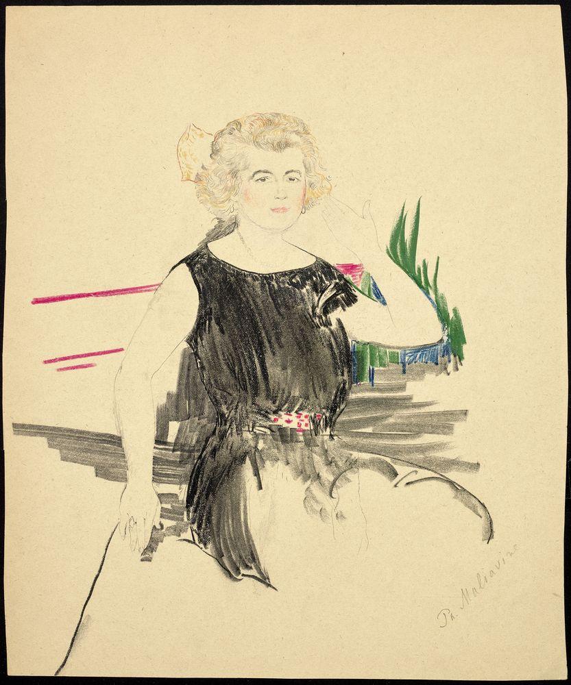 FILIPP MALYAVIN (1869-1940) - Five Female Portraits pencil, crayon on paper, [...] - Bild 3 aus 5