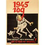 Viktor Deni (1893-1946) - Soviet Poster 'You reap what you sow! -You can't escape [...]