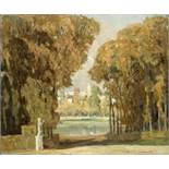 Marie LOUGUININE-WOLKONSKY (1875-1960) - Park in early fall signed 'Louguinine [...]