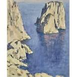 Leonid Romanovich Sologub (1884-1956) - Mediterranean village Signed (on the [...]