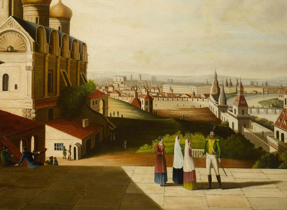 After Gérard de la Barthe (1730-1810), early XIX c. - View Of Moscow signed with [...] - Bild 2 aus 2