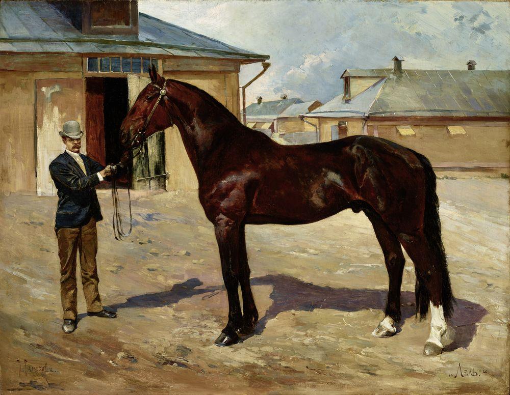 Nikolai Semenovich Samokish (1860-1944) - Lel - Portrait of a racing [...]