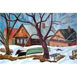 KONSTANTIN YSINOVSKIY - Trubezh in March Oil on canvas 40 x 60 cm Painted in 2000 - [...]