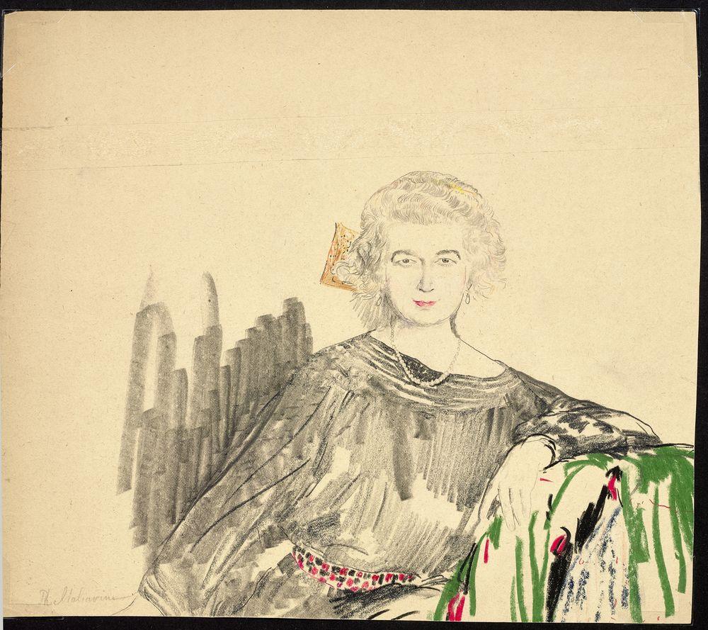 FILIPP MALYAVIN (1869-1940) - Five Female Portraits pencil, crayon on paper, [...] - Bild 5 aus 5