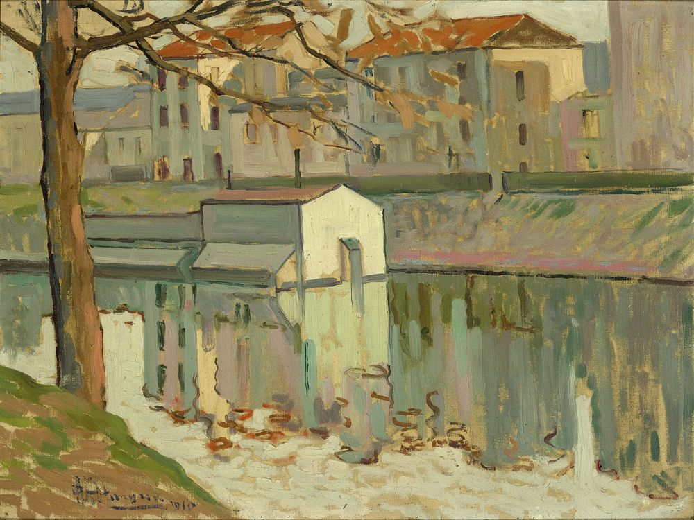 Natan Isaevich ALTMAN (1889-1970) - Channel embankment signed and dated 'Altman [...]