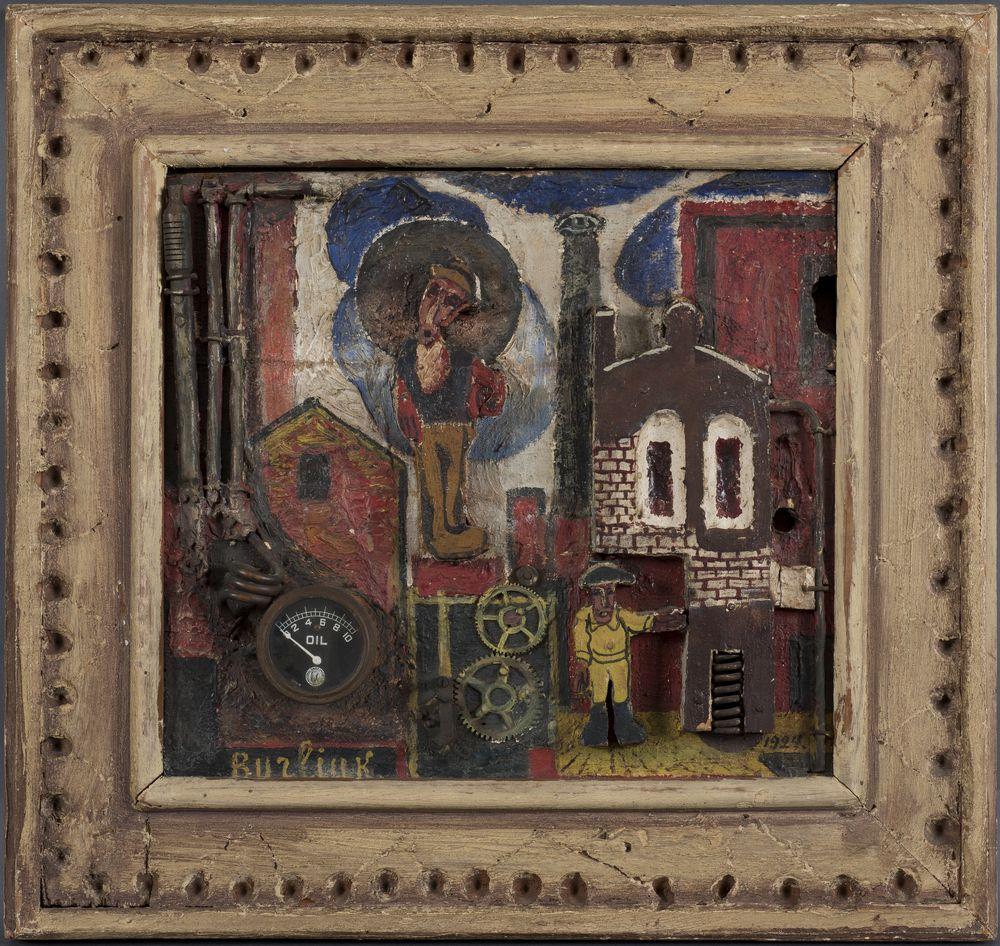 David Burliuk (1882-1967) - Contre-Relief. Factory signed 'Burliuk' (lower left) [...] - Bild 2 aus 2