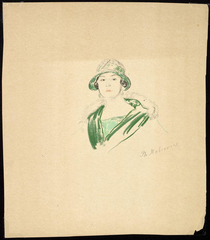 FILIPP MALYAVIN (1869-1940) - Five Female Portraits pencil, crayon on paper, [...]