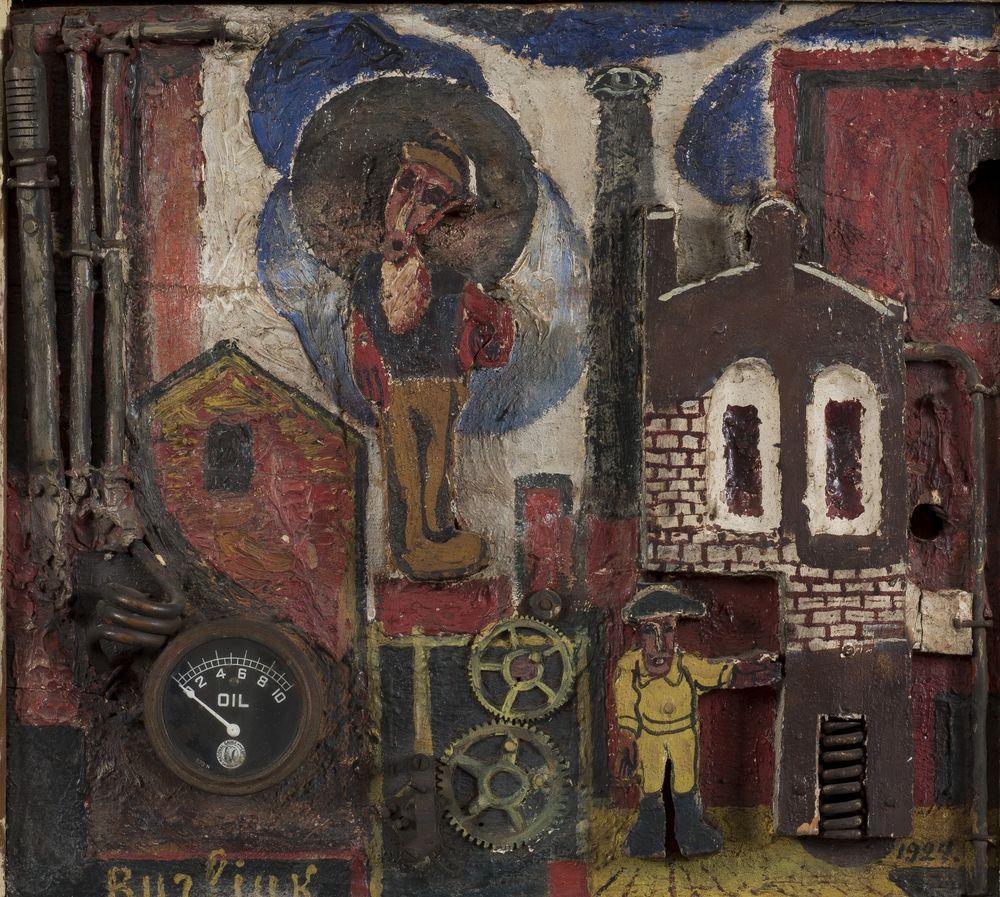 David Burliuk (1882-1967) - Contre-Relief. Factory signed 'Burliuk' (lower left) [...]