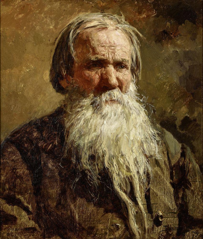 Vasily Dmitrievich Polenov (1844-1927) - Portrait of the Russian folk singer Vasily [...]