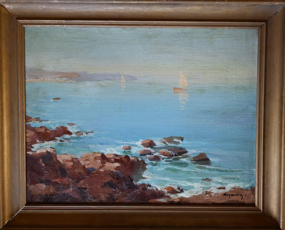 Mykola Vasyl KRYCHEVSKY (1898-1961) - White 'Sailboats At Sea, 1945 signed and [...] - Bild 2 aus 2