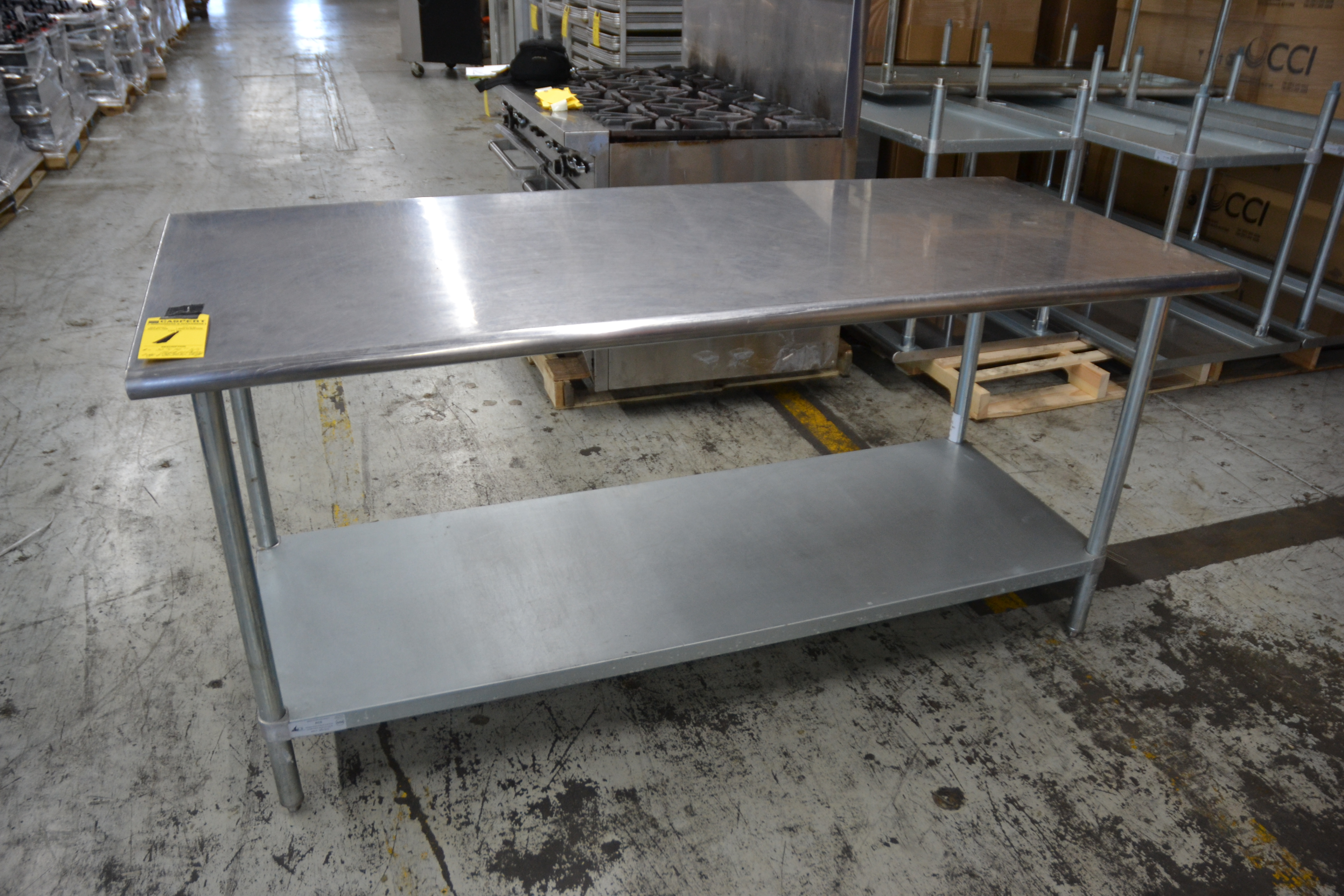 "Lot 1 - 30"" x 72"" Stainless Steel Prep Tables"