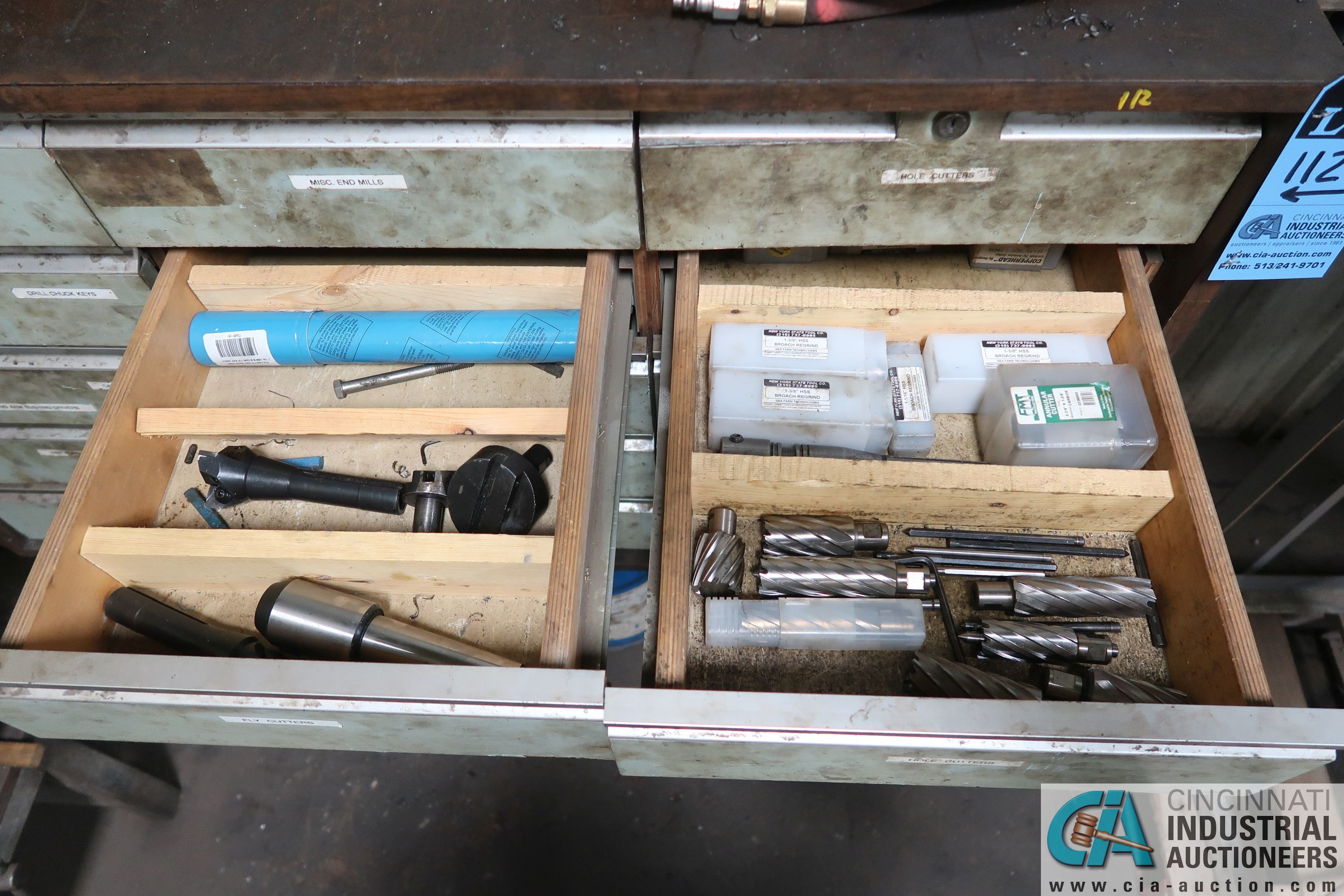 CABINETS WITH MISC. TOOLING, PARTS, HOLD DOWNS - Image 12 of 15