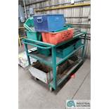 "52"" X 32"" HEAVY DUTY STEEL CART WITH STEEL AND POLY TUBS"