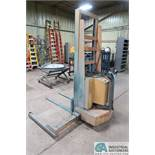 "2,000 LB ROL-LIFT MODEL PSA420 ELECTRIC WALK-BEHIND STACKER; S/N PS1556, 72"" LIFT HEIGHT, 48"" FORKS,"