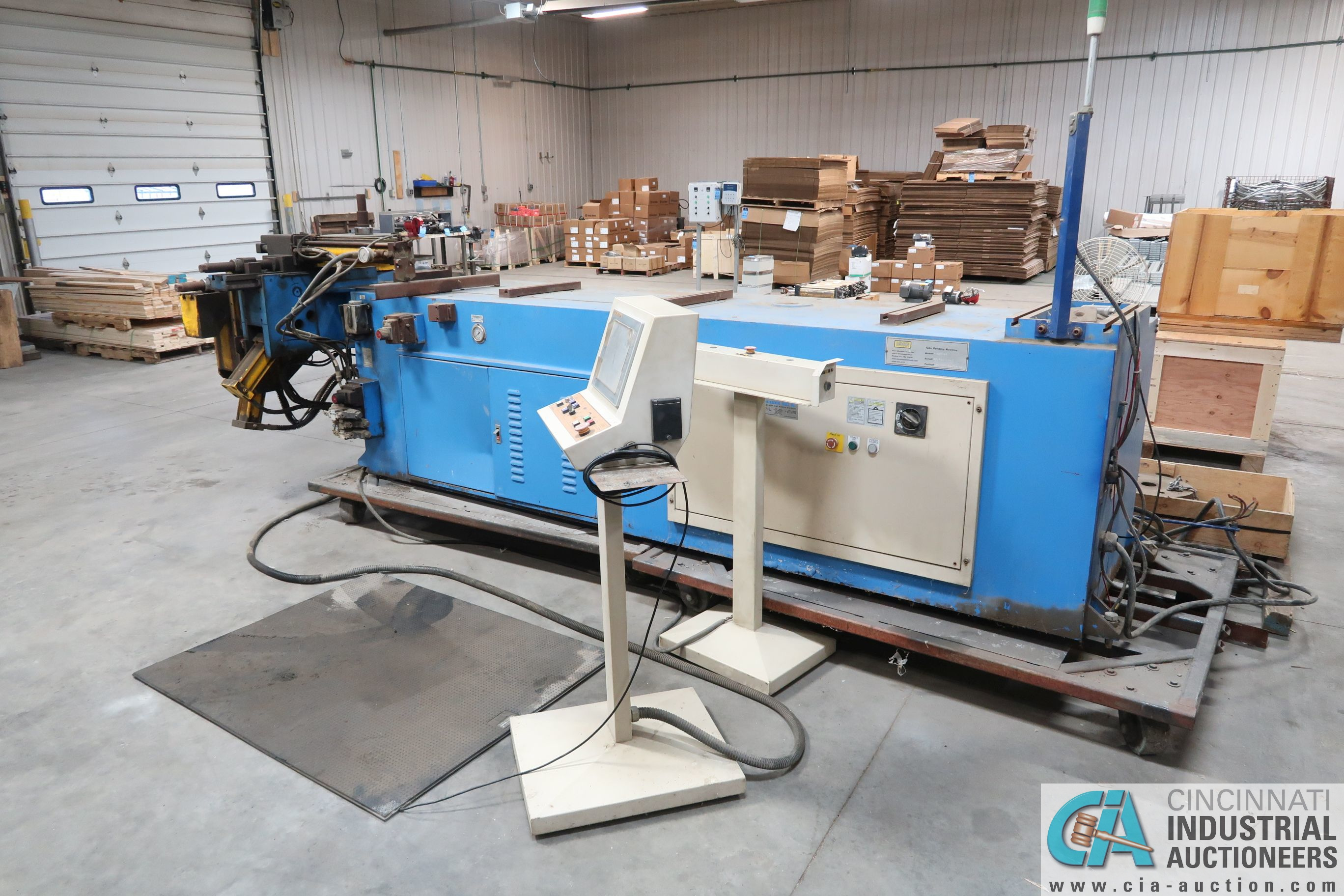 """4"""" HORN MODEL A100 TNCB CNC HYDRAULIC TUBE BENDER; S/N 080334-434B, CAPACITIES: 4"""" X .217 MILL STEEL - Image 3 of 11"""