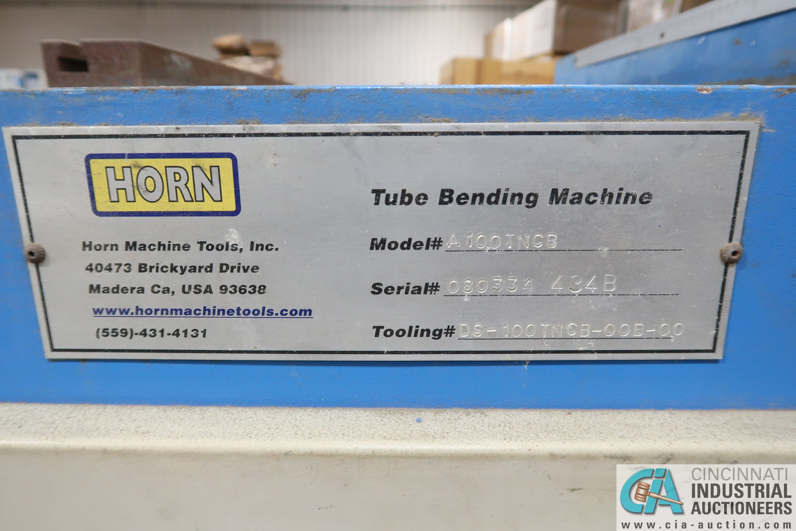 """4"""" HORN MODEL A100 TNCB CNC HYDRAULIC TUBE BENDER; S/N 080334-434B, CAPACITIES: 4"""" X .217 MILL STEEL - Image 4 of 11"""