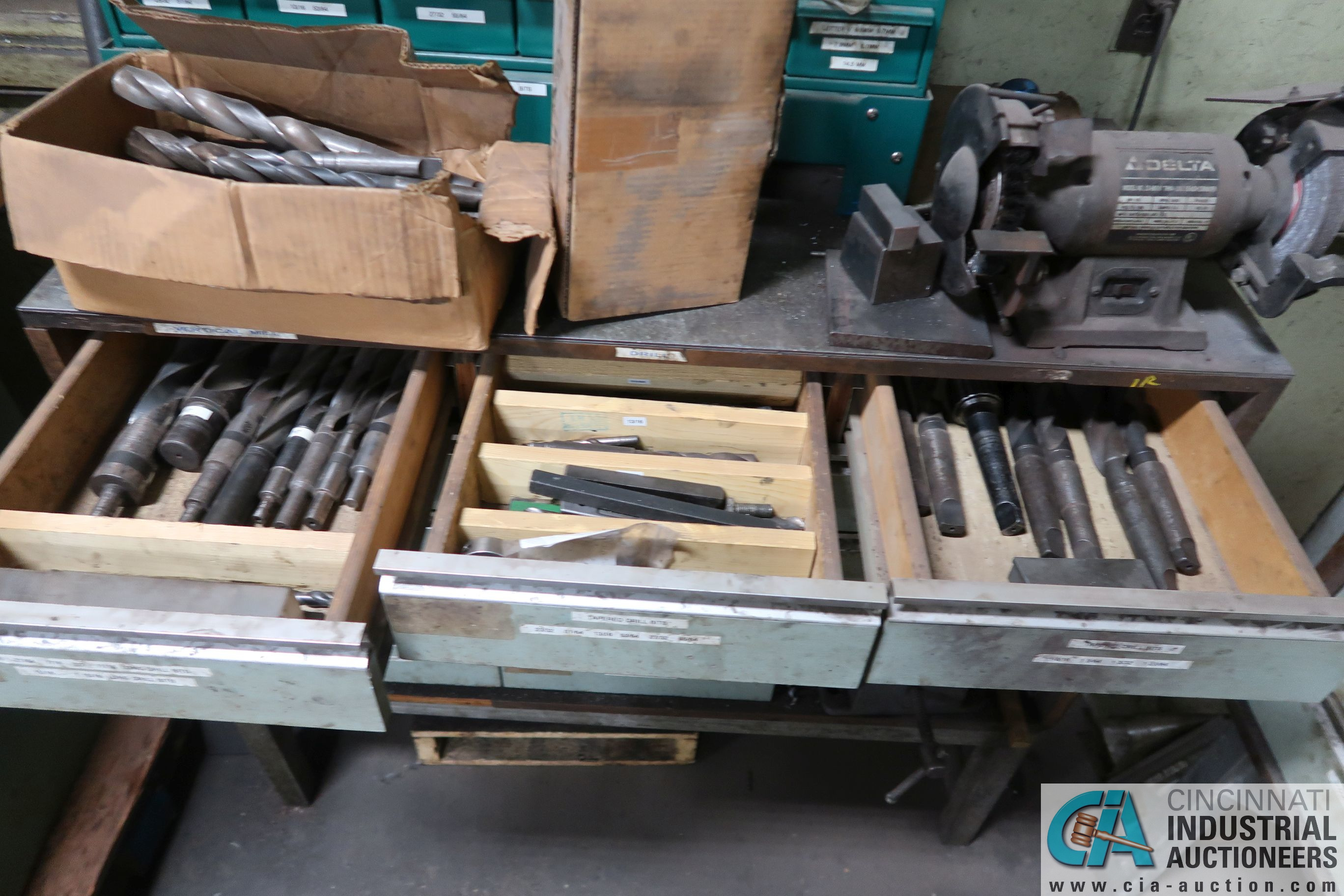CABINETS WITH MISC. TOOLING, PARTS, HOLD DOWNS - Image 6 of 15