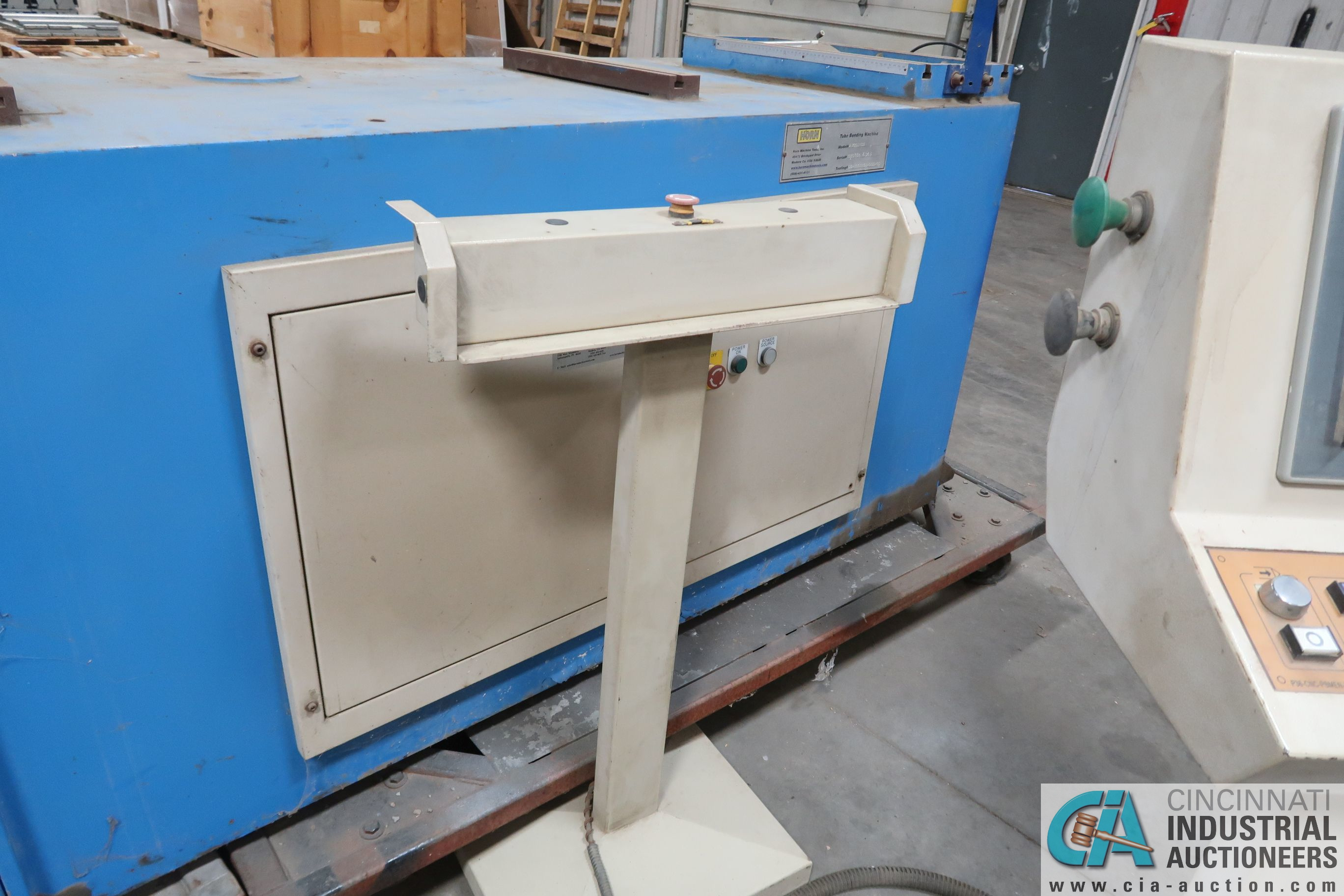"""4"""" HORN MODEL A100 TNCB CNC HYDRAULIC TUBE BENDER; S/N 080334-434B, CAPACITIES: 4"""" X .217 MILL STEEL - Image 6 of 11"""