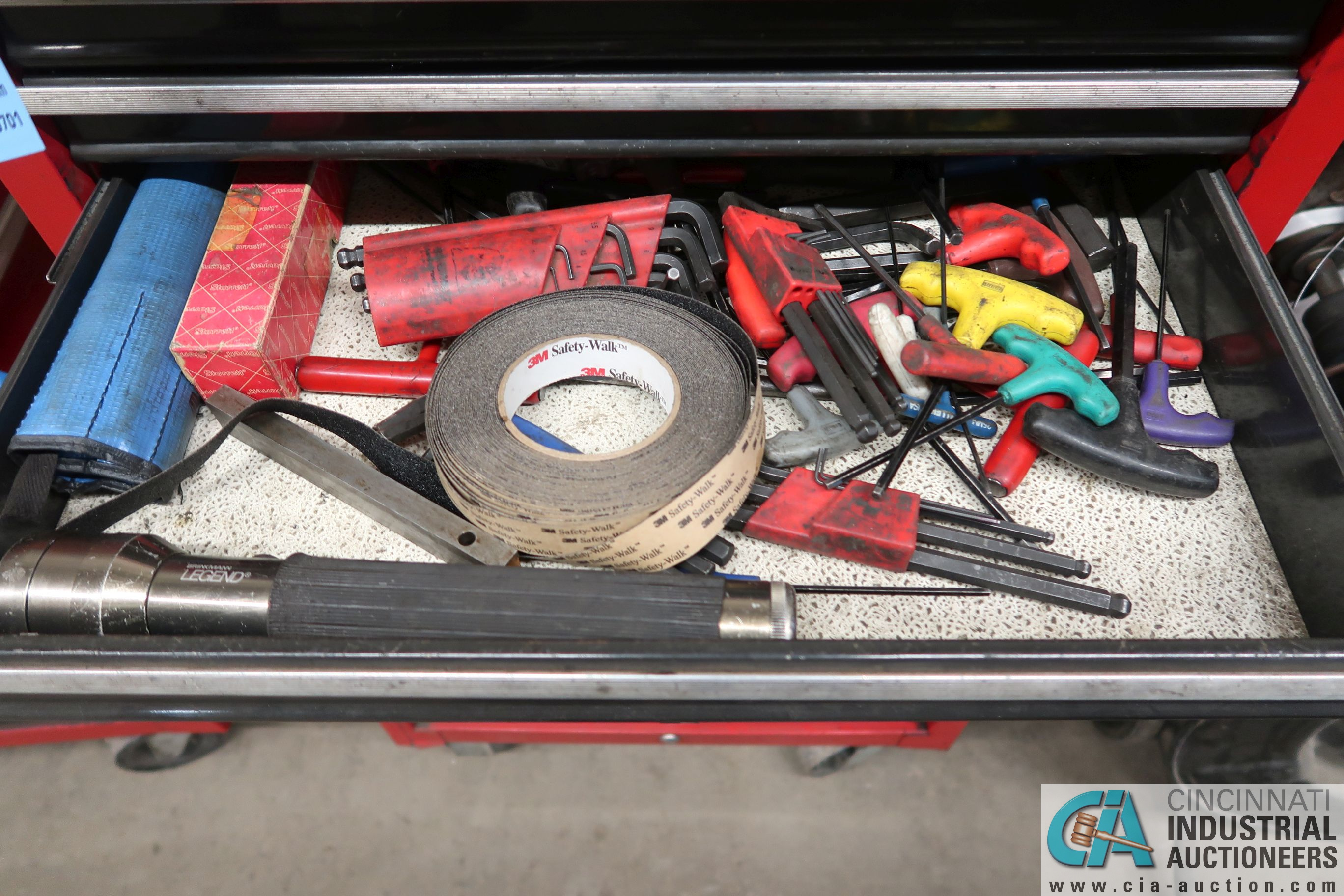 8-DRAWER CRAFTSMAN PORTABLE TOOL BOX WITH TOOLS - Image 4 of 8