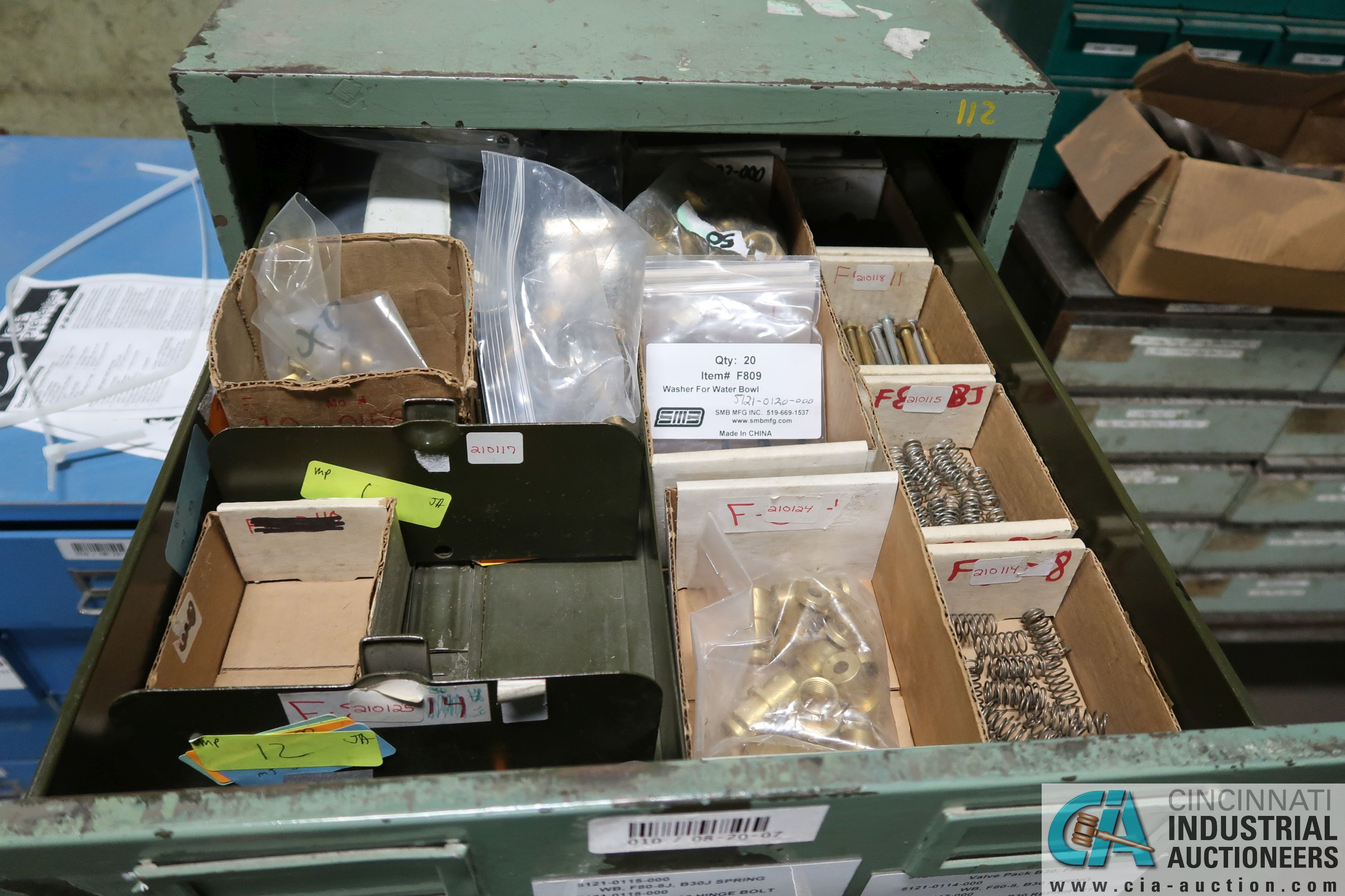 CABINETS WITH MISC. TOOLING, PARTS, HOLD DOWNS - Image 2 of 15