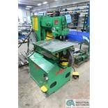 50 TON UNI-HYDRO MODEL P50-14 HYDRAULIC IRONWORKER; S/N 3P880-X, FOOT PEDAL, NOTCHER, PLATE SHEAR