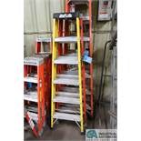 6' LOUISVILLE AND ROCK RIVER FIBERGLASS LADDERS