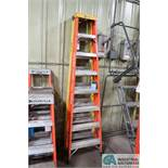 8' BAUER AND ROCK RIVER FIBERGLASS LADDERS