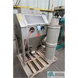 TRINCO MODEL 36BP ABRASIVE BLAST CABINET WITH DUST COLLECTOR