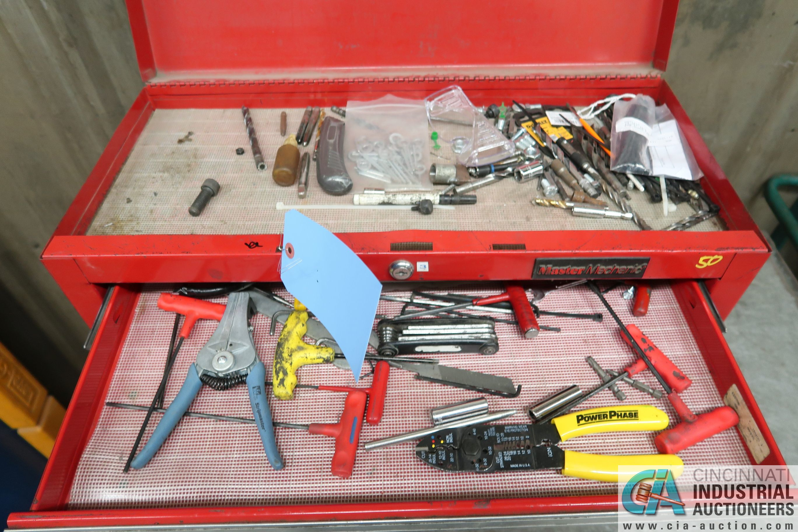 5-DRAWER MASTER MECHANIC TOOL BOX WITH TOOLS AND CART - Image 2 of 5