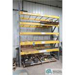 """SECTION 36"""" X 96"""" X 10' HIGH PALLET RACK; 5 SHELVES WITH WIRE DECKING"""