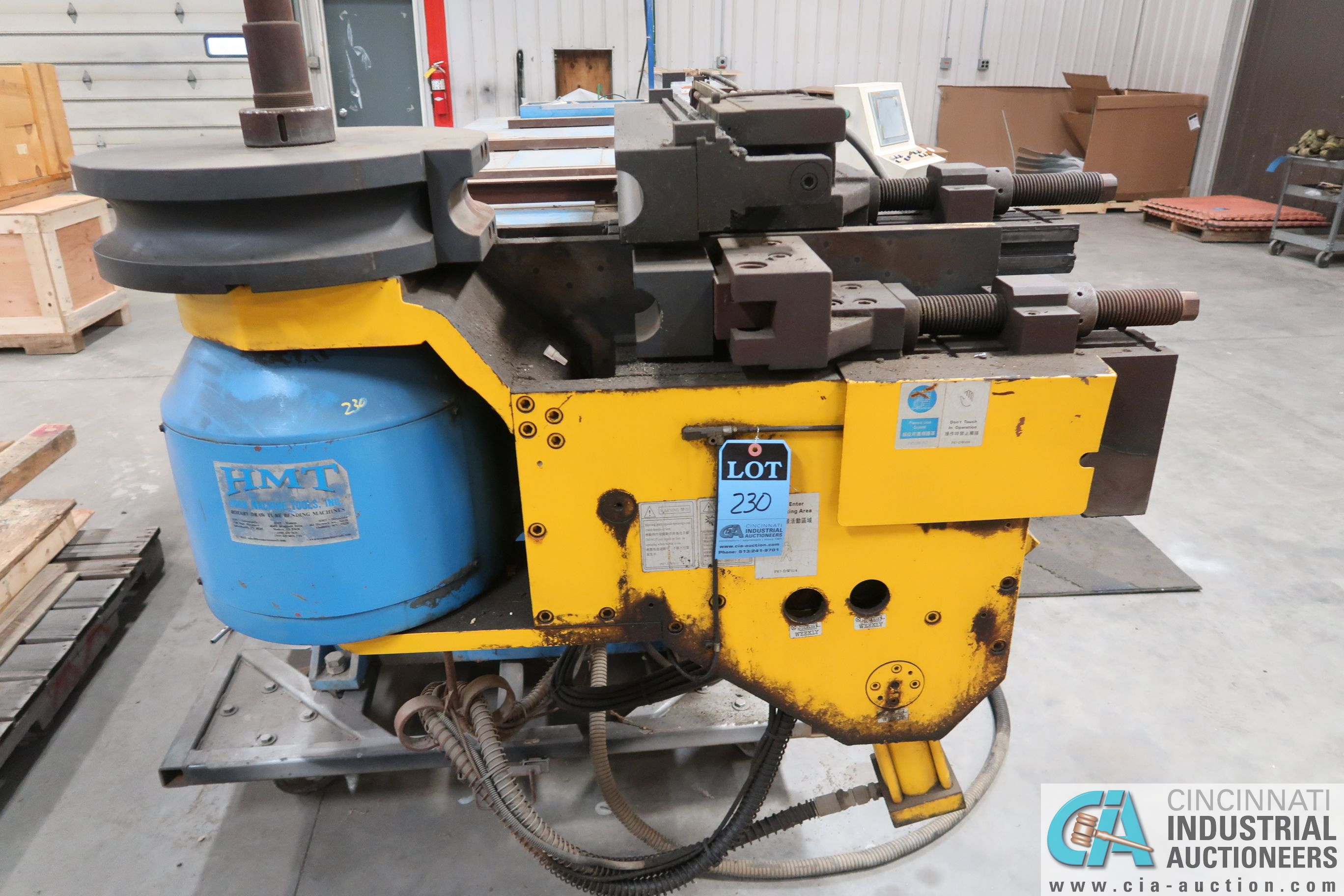 """4"""" HORN MODEL A100 TNCB CNC HYDRAULIC TUBE BENDER; S/N 080334-434B, CAPACITIES: 4"""" X .217 MILL STEEL - Image 8 of 11"""