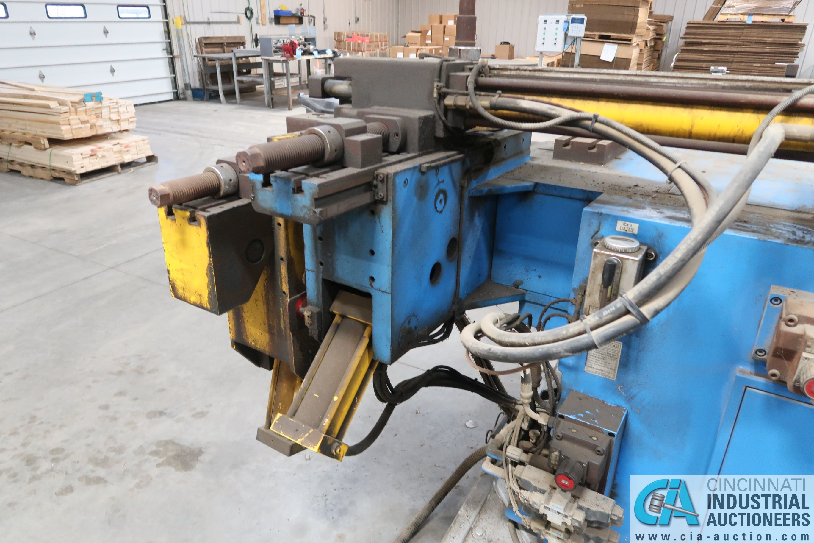 """4"""" HORN MODEL A100 TNCB CNC HYDRAULIC TUBE BENDER; S/N 080334-434B, CAPACITIES: 4"""" X .217 MILL STEEL - Image 7 of 11"""