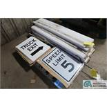 (LOT) SIGNS & POLYETHYLENE STOCK