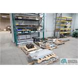 (LOT) ASSORTED STEEL FABRICATED PARTS ON 15 PALLETS - ON FLOOR AND ON RACK