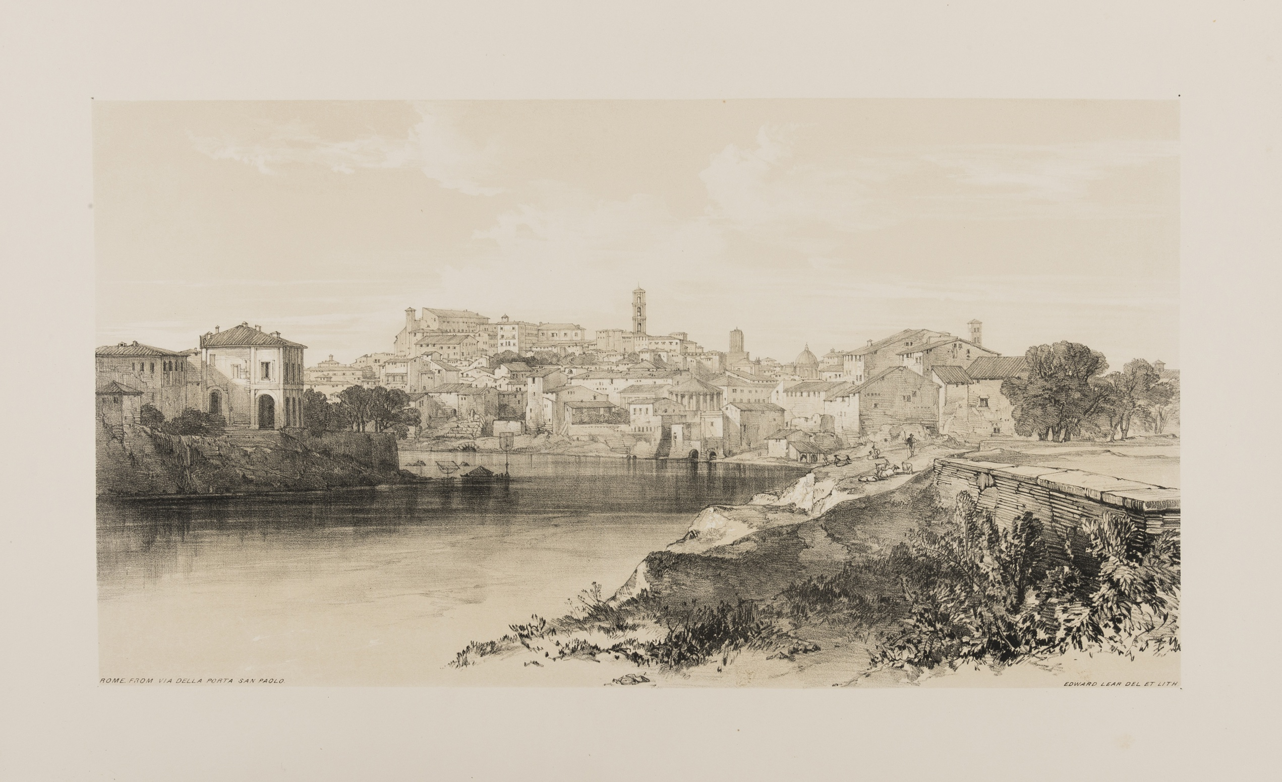 Lot 101 - Italy.- Lear (Edward) Views in Rome and its Environs, 1841.