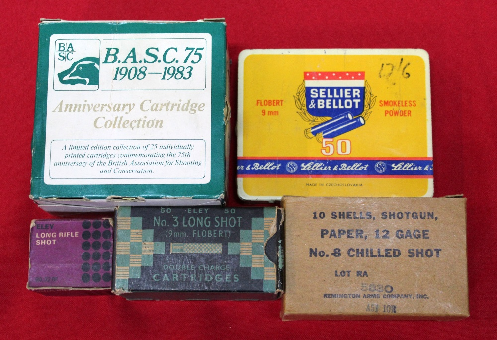 Lot 102 - A mixed lot of shotgun cartridges including a box of B.A.S.C.