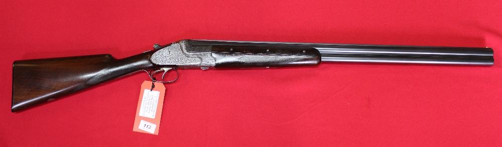 Lot 113 - A 12 bore O/U shotgun by Merkel, S/No.