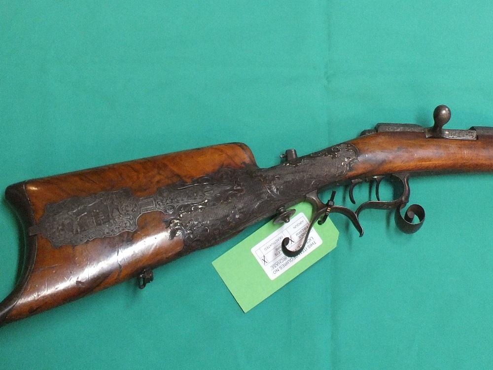 Lot 85 - A German bolt action 'Schutzen' target rifle by W.