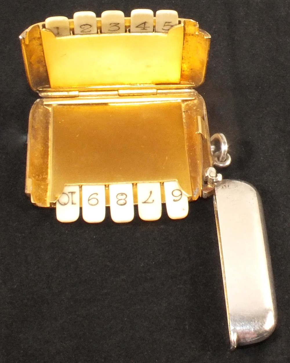 A silver cased set of ten butt markers by John Henry Hill,