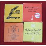 Three boxes of Gallyons cartridges with a box of 'The Laxfield',