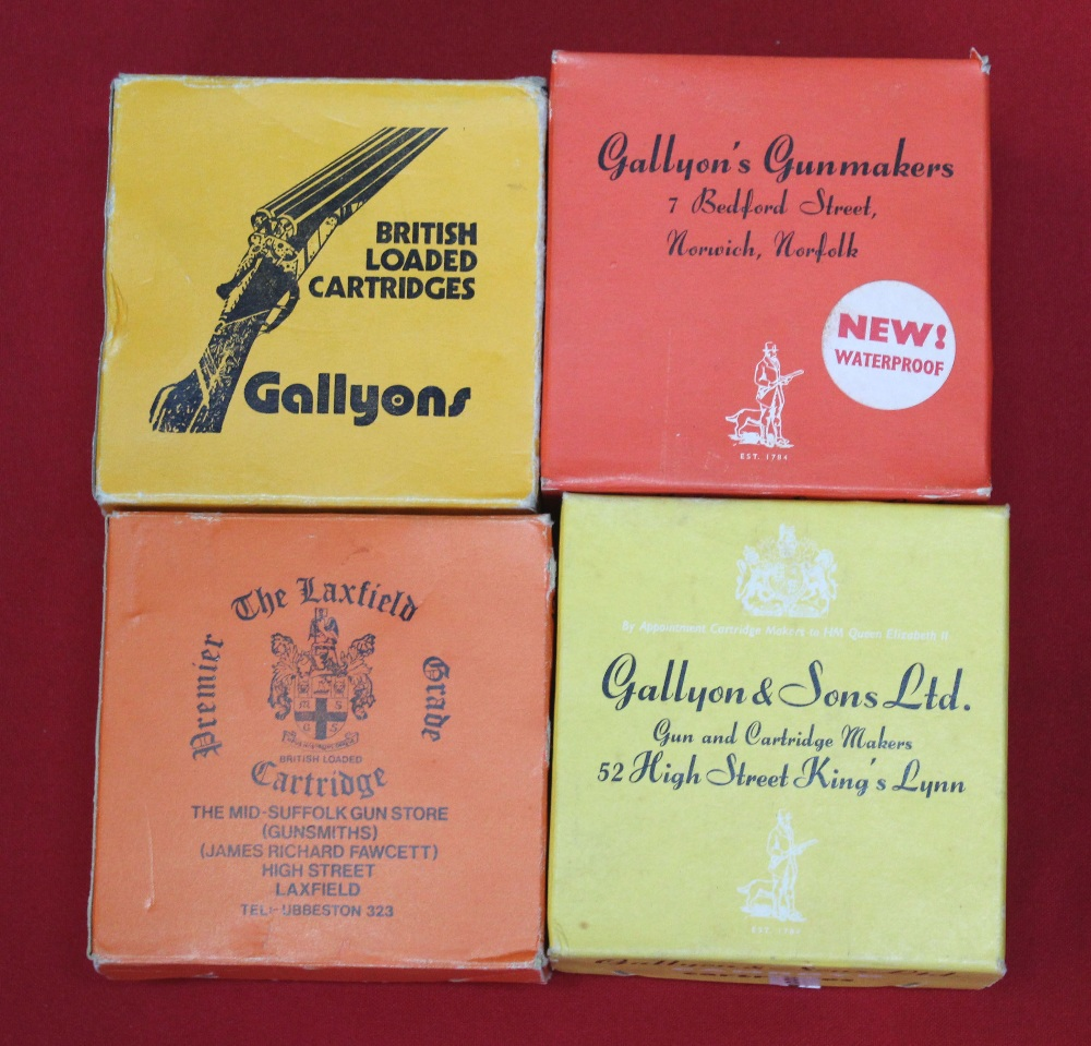 Lot 99 - Three boxes of Gallyons cartridges with a box of 'The Laxfield',