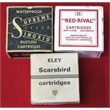 Three boxes of 'collectors cartridges',