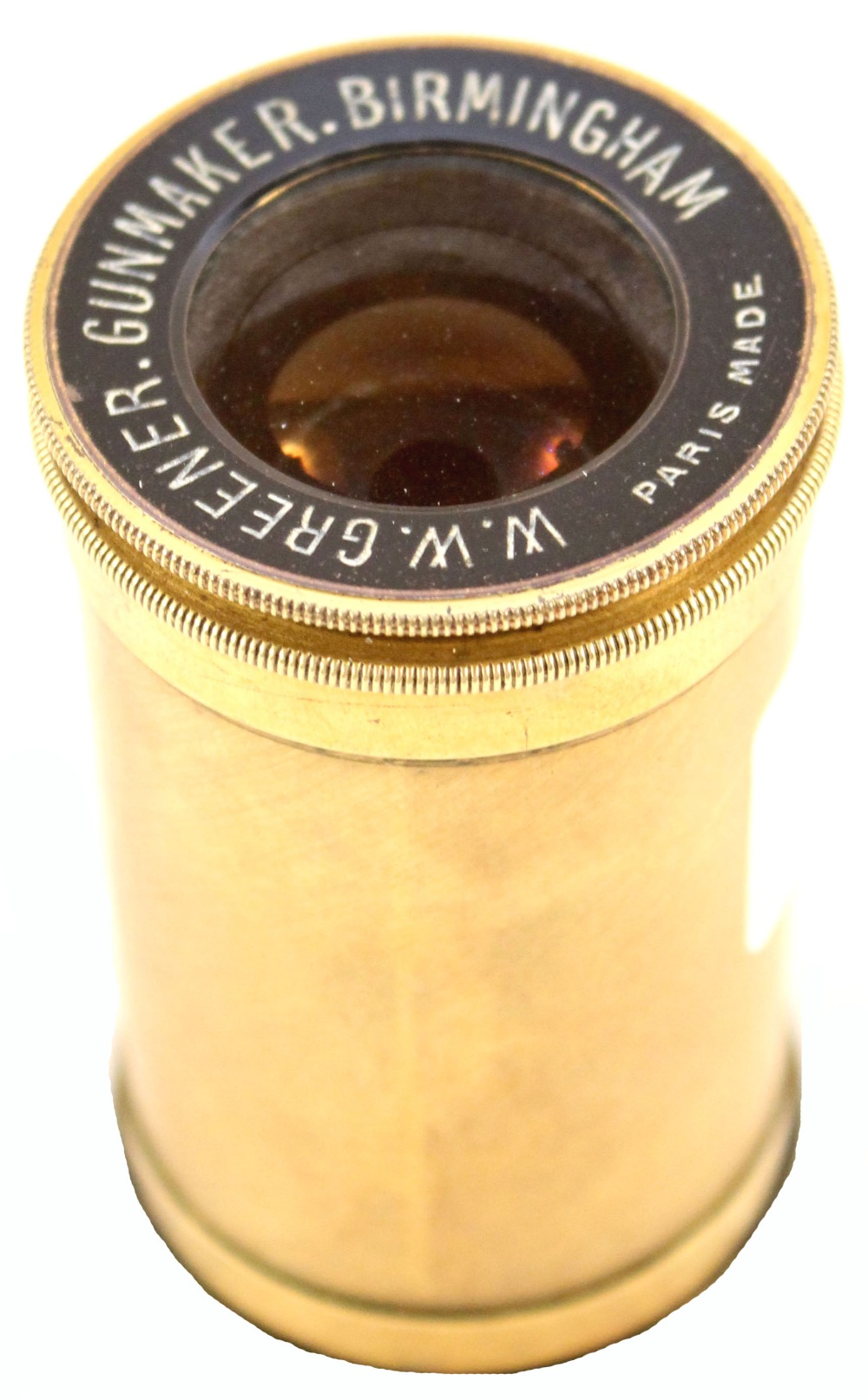 Lot 40 - A small brass 'spotting' scope marked W.W.