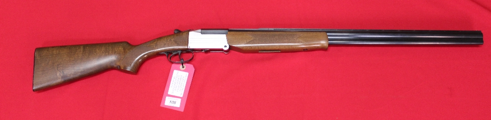 Lot 108 - A folding O/U combination shotgun, 20 bore top barrel and .