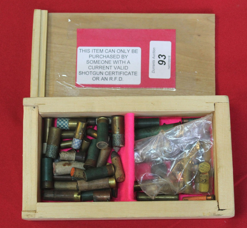 Lot 93 - A collection of small calibre pin-fire, rim-fire and centre-fire cartridges including blanks,