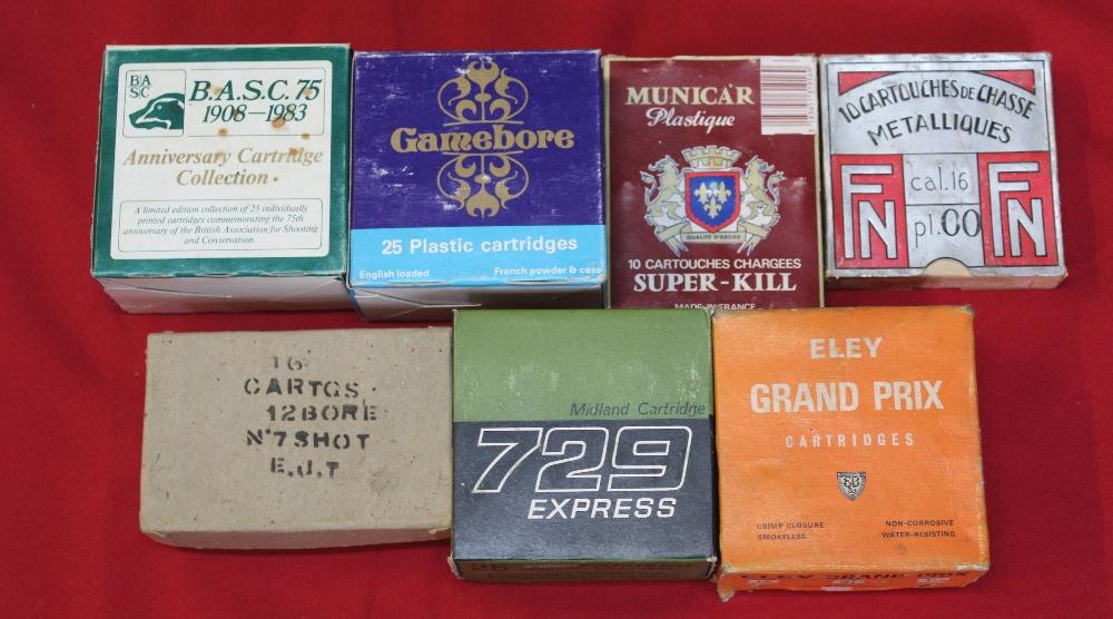 Lot 100 - Seven boxes of various shotgun cartridges,