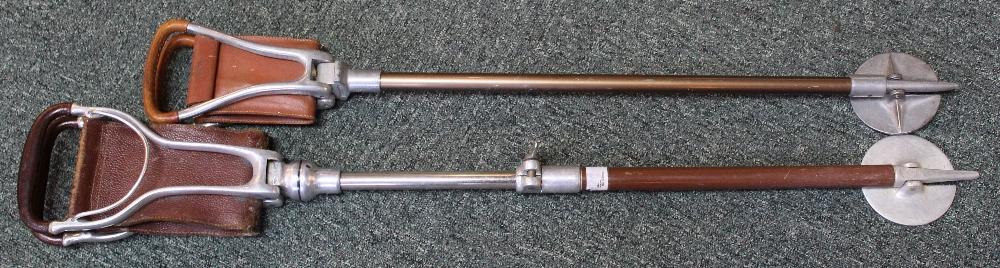 Two shooting sticks