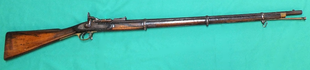 Lot 84 - A Snider (.577 cal) three band rifle by B.S.A.
