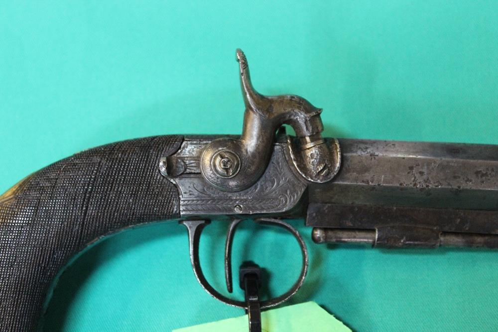 Lot 60 - A Percussion belt/pocket pistol by W.