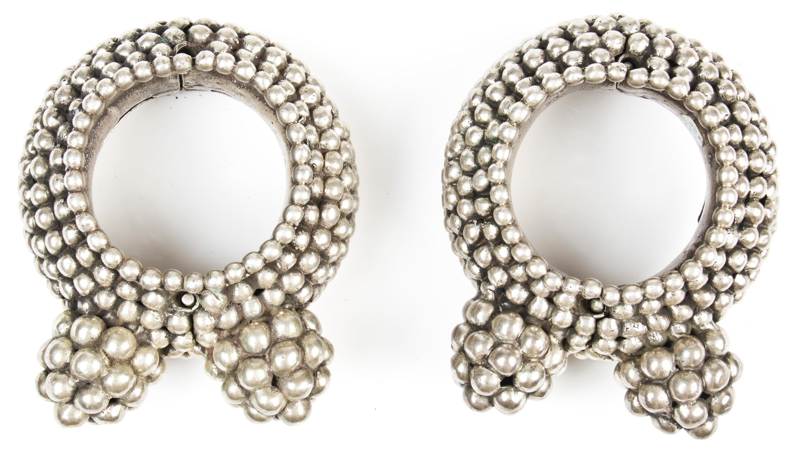 Lot 576  Pair East Indian Ankle Bracelets Each Size: 25